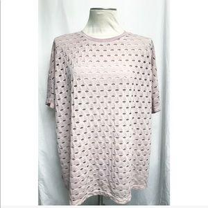 ASOS • pink distress top• size 14